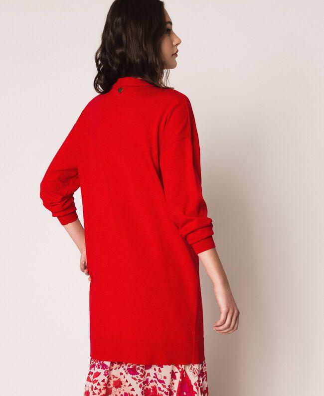 """Платье с бахромой из стразов Красный """"Лава"""" женщина 201TP3080-03"""