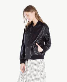 Leather jacket Black Woman PS82DA-02