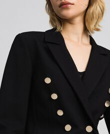 Double breasted slim fit jacket Black Woman 192MP2170-04