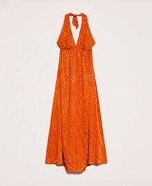 Vestido largo jacquard con diseño floral Naranja «Ace» Mujer 201LB2HAA-0S