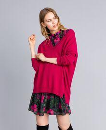 """Maglia lunga in lana e cashmere Fucsia """"Azalea"""" Donna TA83AE-0T"""