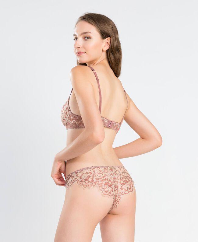 Slip brésilien en tulle imprimé Rose Baroque Femme IA8D77-03