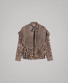 Блуза из жоржета с животным принтом Смешанный Принт С Животными женщина 191TP2721-0S