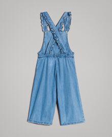 Jeans-Latzhose mit Logo Soft Denim Kind 191GB2560-0S