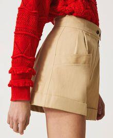 "High-Waist-Shorts ""Cuban Sand""-Rosa Frau 211TT2073-02"