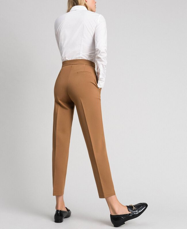 """Cigarette trousers with pockets """"Sequoia"""" Beige Woman 192ST2134-03"""
