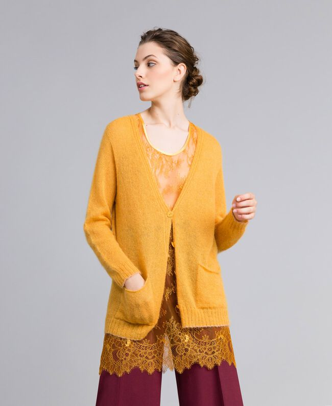 Cardigan in mohair con top in pizzo Brandy Donna PA836D-01