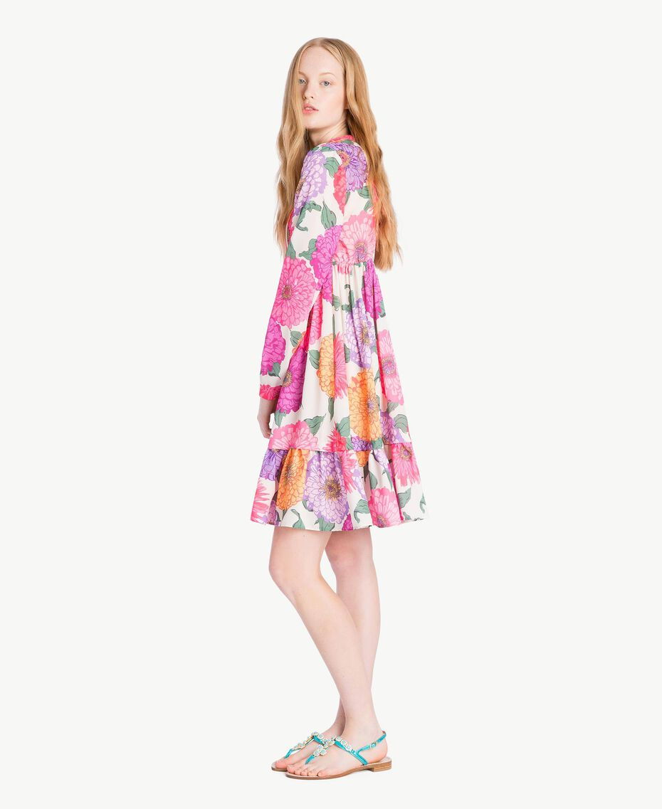 Kleid mit Blumenprint Makropfingstrosen-Print Frau NS82AB-02
