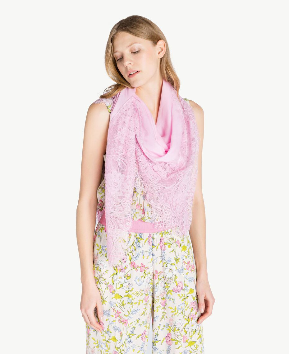 Lace keffiyeh Hydrangea Pink Woman AS8P4R-02