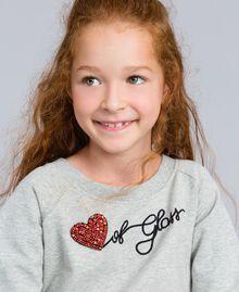 Maxisweatshirt aus Viskose Hellgrau-Mélange Kind GA82R1-04
