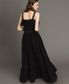 Long dress with broderie anglaise embroidery Black Woman 191TT2043-04