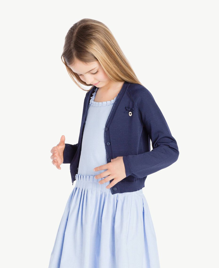 Bow cardigan Ocean Blue Child GS83AA-03