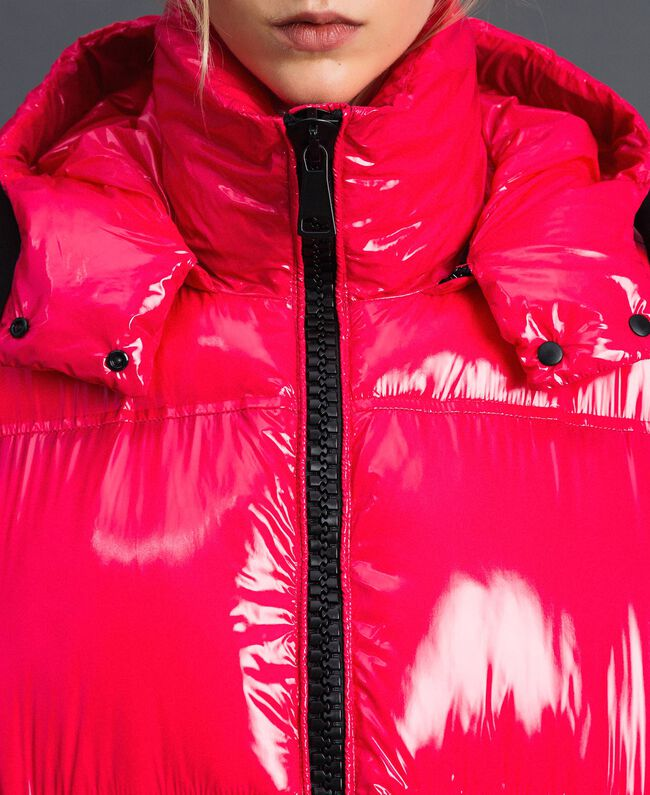 Steppmantel in Lackoptik Pink Gloss Frau 192MT2071-04
