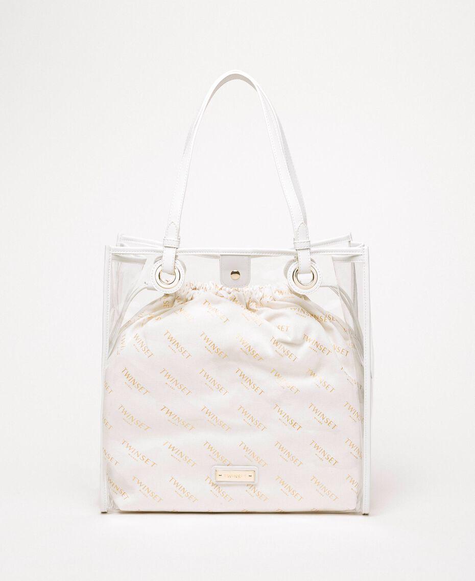 Shopper with logo sack White Woman 201TA7180-01