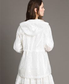 Waxed fabric and lace parka White Woman 191MT2100-01