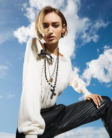 Collier avec charm, croix et nœud Noir Femme 202TA4315-0S