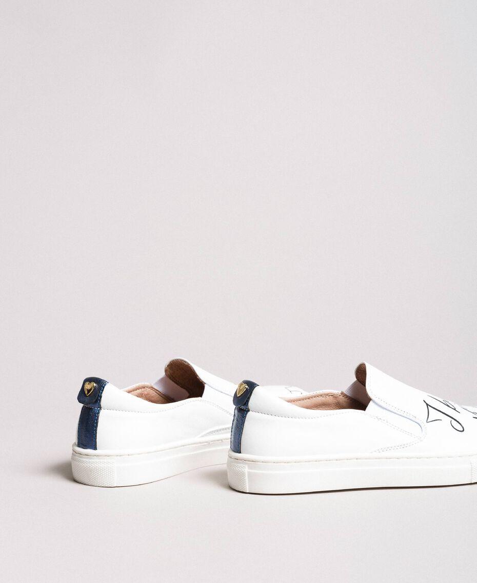 Slip-On-Sneakers mit Aufdruck Weiß Kind 191GCJ052-03