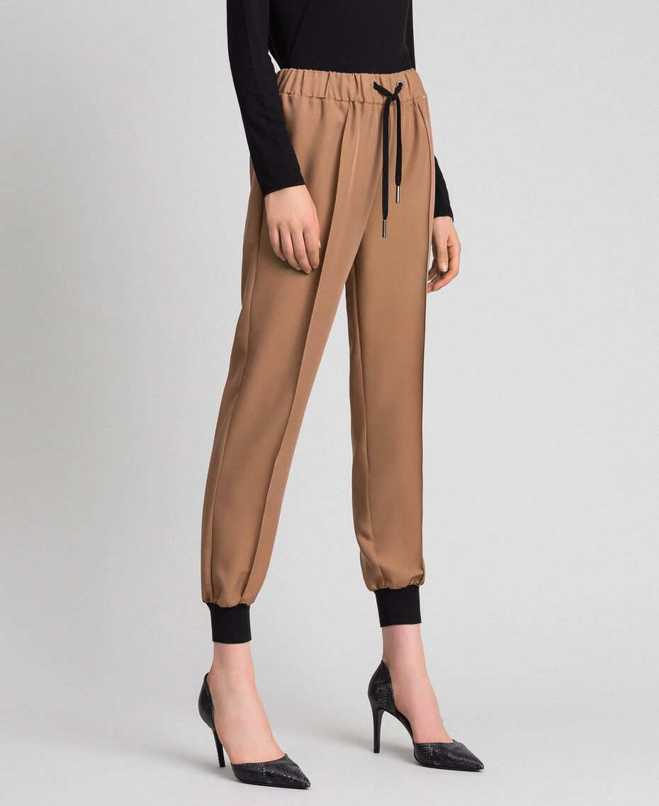 """Jogging trousers with elastic and drawstring """"Sequoia"""" Beige Woman 192ST2203-02"""