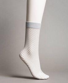 Lurex fishnet socks Ice Woman 191TA4348-01