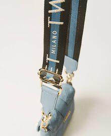 Small Rebel shoulder bag with logo Blue ash Woman 202TB7162-05