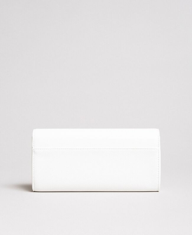 Faux leather wallet with studs White Cream Woman 191MA7144-03