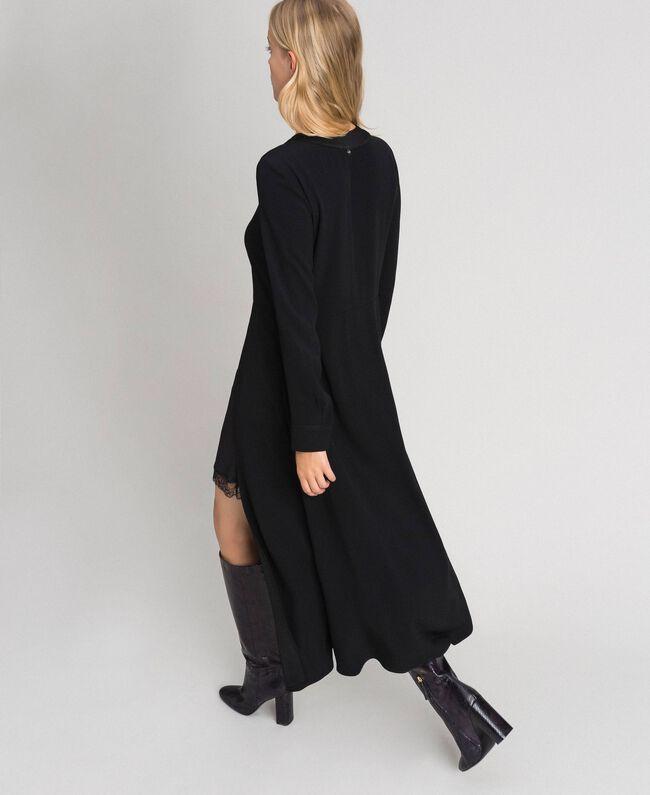 Midi dress with slip Black Woman 192TT229C-03