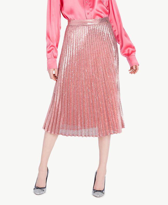 TWINSET Glitter court shoes Silver Woman CS8PLE-04