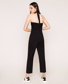 Poplin jumpsuit Black Woman 201MT2106-04