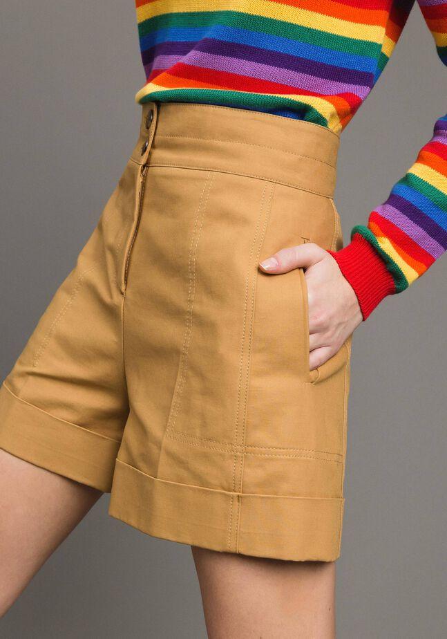Technical cotton shorts