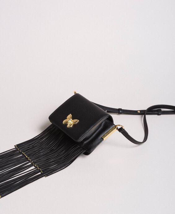 Bea Bag à bandoulière en cuir avec franges