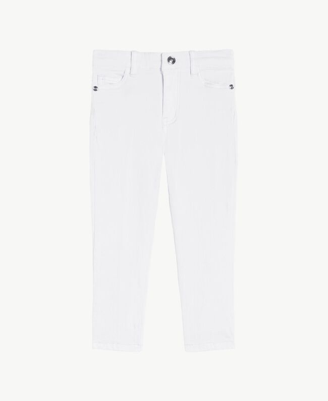 "Pantalon skinny Blanc ""Papers"" Enfant FS82CP-01"