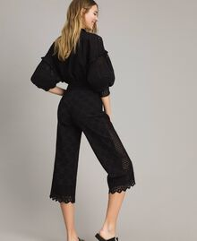 Broderie anglaise trousers Black Woman 191TT2045-03