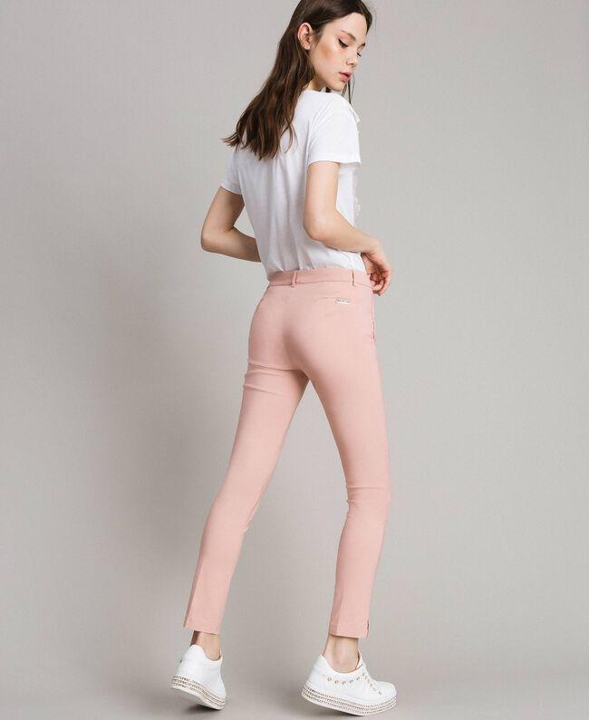 """Pantalon cigarette Rose """"Pink Bouquet"""" Femme 191LB22GG-03"""