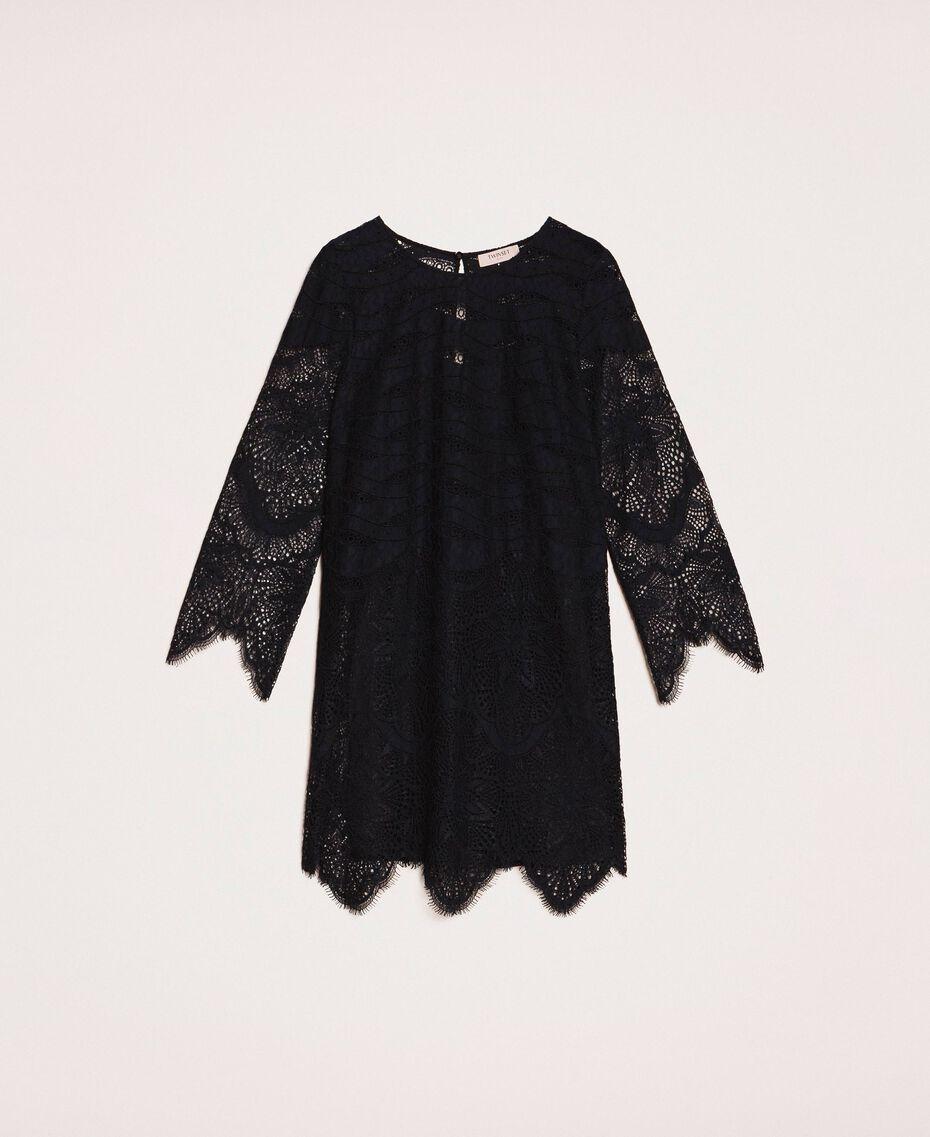 Macramé lace dress Black Cherry Woman 201TP2030-0S