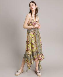"""Chiffon-Kleid mit Schalaufdruck Motiv """"Lemon Juice"""" Gelb Schal Frau 191LB2HEE-02"""