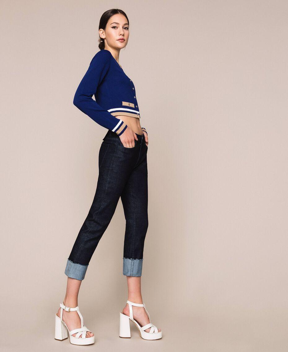 Jeans tomboy con risvolto Denim Blue Donna 201MP2341-02