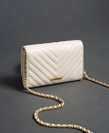 Small quilted leather shoulder bag Papyrus White Woman 192TA7106-02