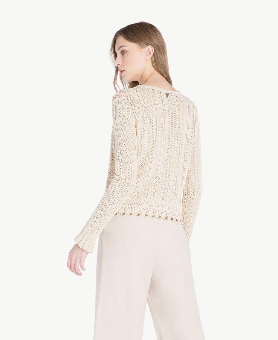 Gilet crochet Écru Femme TS83BB-03