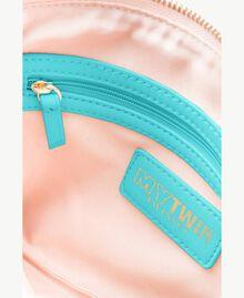 "TWINSET Tracolla pochette Stampa ""Smart"" Zaffiro Verde Donna RS8TF1-04"