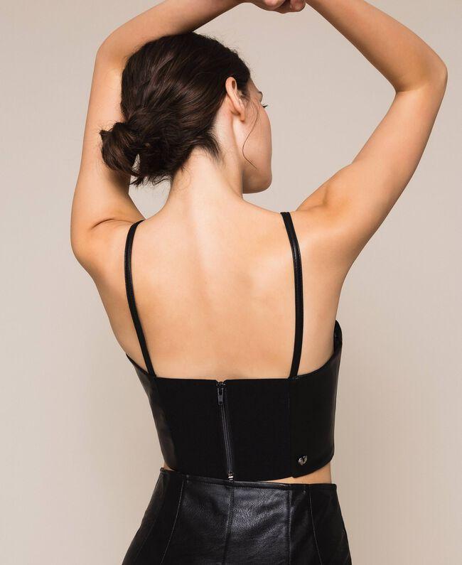 Топ-бюстье из искусственной кожи Черный женщина 201MP2045-03