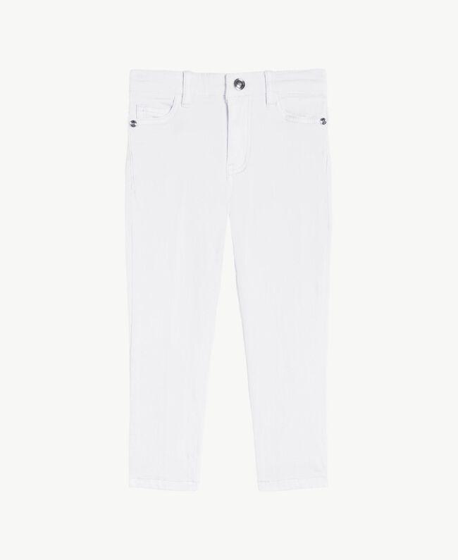 """Pantalon skinny Blanc """"Papers"""" Enfant FS82CP-01"""