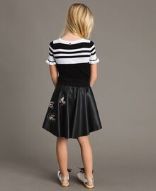 Faux leather skirt with butterflies Black Child 191GJ2261-02