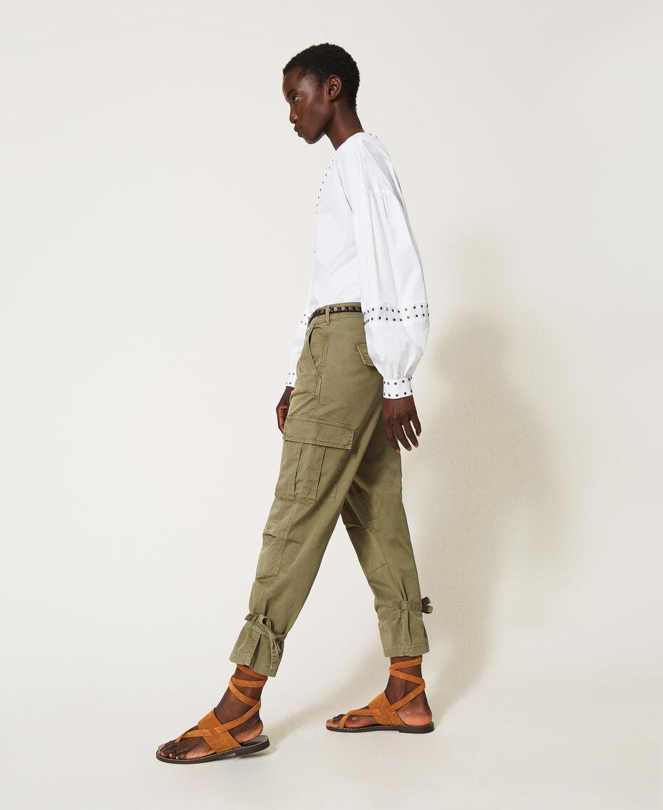 Pantalon cargo avec poches Vert Alpin Femme 211TT2652-01