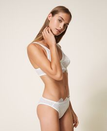 Lace and tulle briefs Black Woman 202LI6166-01