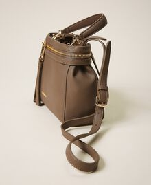 Small faux leather New Cécile bag Turtledove Woman 202TB7181-04