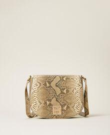 Umhängetasche aus Leder mit exotischer Prägung Pythonprägung Pastel Skin Frau 202TD8050-02