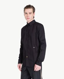 Poplin shirt Black Man US821D-02