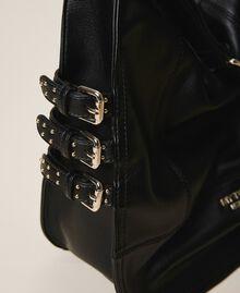 Сумка хобо из искусственной кожи с ремешками Черный женщина 202MA7041-04