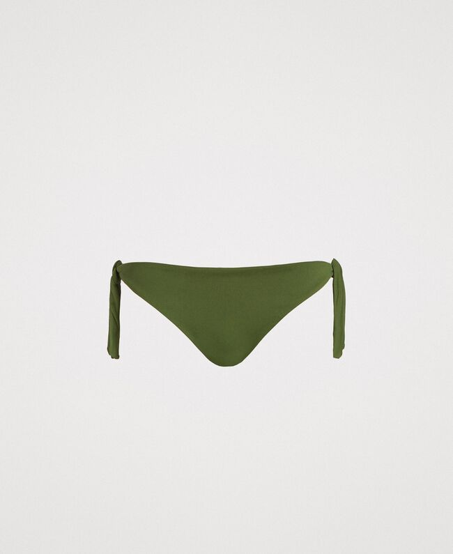 Bikinitanga mit Schleifchen Amazonas Grün Frau 191LMMR77-01