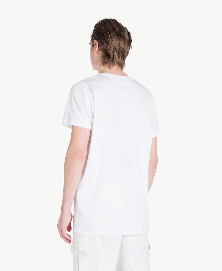 T-shirt logo Blanc Opaque Homme US8228-03